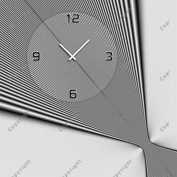 4077 Dixtime Designer Wanduhr, Wanduhren, Moderne Wohnraumuhr  50cm x 50cm