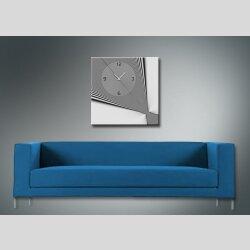 4077 Dixtime Designer Wanduhr, Wanduhren, Moderne Wohnraumuhr  40cm x 40cm