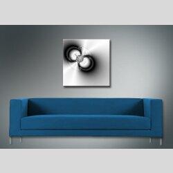 4078 Dixtime Designer Wanduhr, Wanduhren, Moderne Wohnraumuhr  50cm x 50cm