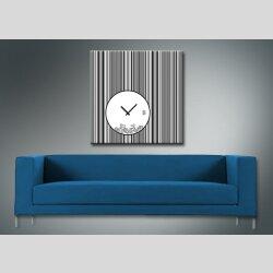 4079 Dixtime Designer Wanduhr, Wanduhren, Moderne Wohnraumuhr  70cm x 70cm