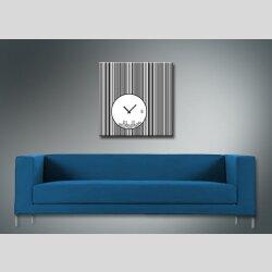 4079 Dixtime Designer Wanduhr, Wanduhren, Moderne Wohnraumuhr  40cm x 40cm