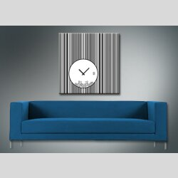 4079 Dixtime Designer Wanduhr, Wanduhren, Moderne Wohnraumuhr  30cm x 30cm