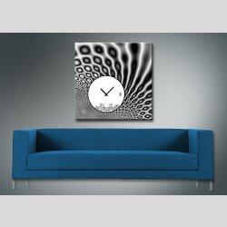 4080 Dixtime Designer Wanduhr, Wanduhren, Moderne Wohnraumuhr  90cm x 90cm