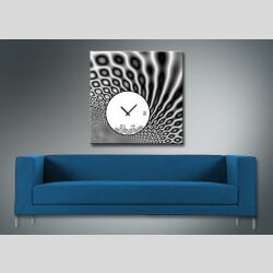 4080 Dixtime Designer Wanduhr, Wanduhren, Moderne Wohnraumuhr  70cm x 70cm