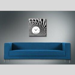 4080 Dixtime Designer Wanduhr, Wanduhren, Moderne Wohnraumuhr  50cm x 50cm