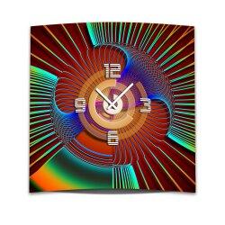 Wanduhr XXL 3D Optik Dixtime abstrakt 50x50 cm leises...
