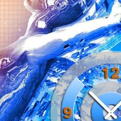 Wanduhr XXL 3D Optik Dixtime abstrakte Frau 50x50 cm leises Uhrwerk GQ-001