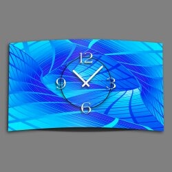 Digital Designer Art abstrakt blau Designer Wanduhr abstrakt modernes Wanduhren Design leise kein ticken DIXTIME 3D-0423