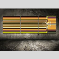4479 Dixtime Designer Wanduhr, 3-Teiler, Wanduhren,...