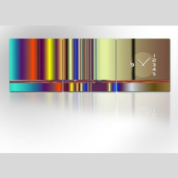4480 Dixtime Designer Wanduhr, 3-Teiler, Wanduhren,...