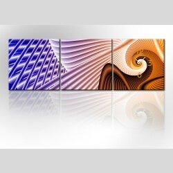 4481 Dixtime Designer Wanduhr, 3-Teiler, Wanduhren,...