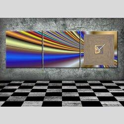4484 Dixtime Designer Wanduhr, 3-Teiler, Wanduhren,...