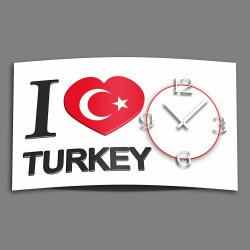 Digital Designer Art Turkey Designer Wanduhr abstrakt...