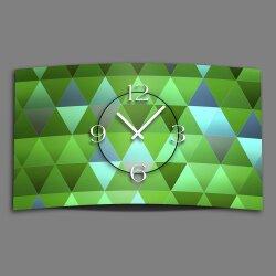 Digital Designer Art Dreiecke grün Designer Wanduhr...