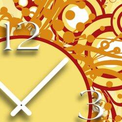 Digital Designer Art Circles  Designer Wanduhr abstrakt modernes Wanduhren Design leise kein ticken DIXTIME 3D-0407