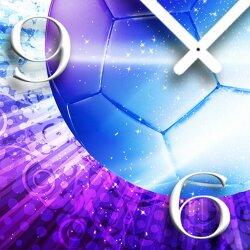 Digital Designer Art Soccer Designer Wanduhr abstrakt modernes Wanduhren Design leise kein ticken DIXTIME 3D-0403