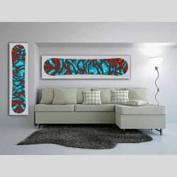 Snowboard Designer Wandbild - DIXTIME - SBB-239