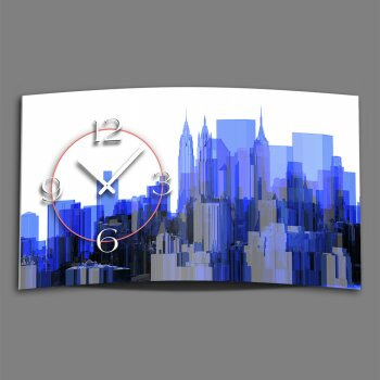 Digital Designer Art Skyline Designer Wanduhr modernes Wanduhren Design leise kein ticken DIXTIME 3D-0400