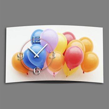 Digital Designer Art Ballons Designer Wanduhr modernes Wanduhren Design leise kein ticken DIXTIME 3D-0399