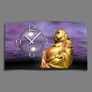 Digital Designer Art Buddha Designer Wanduhr modernes Wanduhren Design leise kein ticken DIXTIME 3D-0398