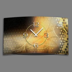 Digital Designer Art abstrakt gold Designer Wanduhr...