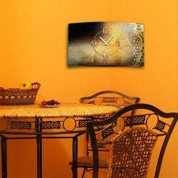 Digital Designer Art abstrakt gold Designer Wanduhr modernes Wanduhren Design leise kein ticken DIXTIME 3D-0391