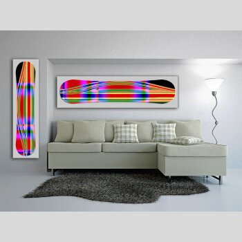 Snowboard Designer Wandbild - DIXTIME - SBB-134