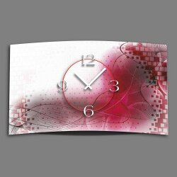 Digital Designer Art abstrakt pink Designer Wanduhr...