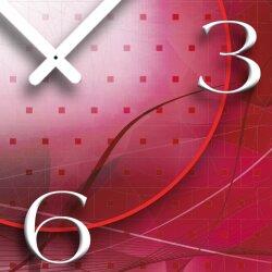 Digital Designer Art abstrakt pink Designer Wanduhr modernes Wanduhren Design leise kein ticken DIXTIME 3D-0390