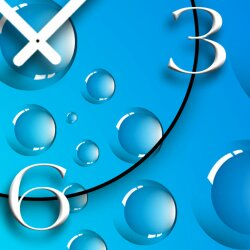 Digital Designer Art Bubbles Designer Wanduhr modernes Wanduhren Design leise kein ticken DIXTIME 3D-0389