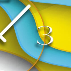 Digital Designer Art abstrakt Designer Wanduhr modernes Wanduhren Design leise kein ticken DIXTIME 3D-0387