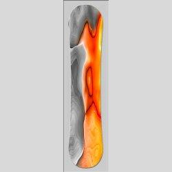 Snowboard Designer Wandbild - DIXTIME - SBB-095