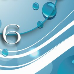 Digital Designer Art abstrakt blau Designer Wanduhr modernes Wanduhren Design leise kein ticken DIXTIME 3D-0385