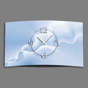 Digital Designer Art abstrakt rauch Designer Wanduhr modernes Wanduhren Design leise kein ticken DIXTIME 3D-0383