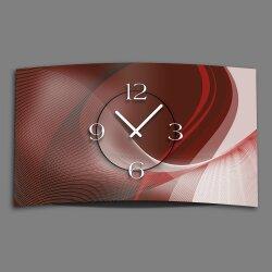 Digital Designer Art abstrakt rot Designer Wanduhr...