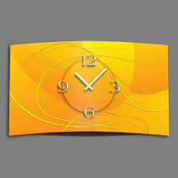 Digital Designer Art abstrakt gelb Designer Wanduhr...