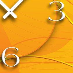 Digital Designer Art abstrakt gelb Designer Wanduhr modernes Wanduhren Design leise kein ticken DIXTIME 3D-0377