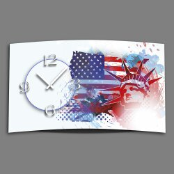 Digital Designer Art American Dream Designer Wanduhr...