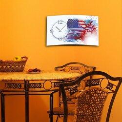 Digital Designer Art American Dream Designer Wanduhr modernes Wanduhren Design leise kein ticken DIXTIME 3D-0376