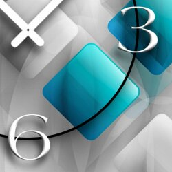 Digital Designer Art abstrakt Rauten Designer Wanduhr modernes Wanduhren Design leise kein ticken DIXTIME 3D-0375