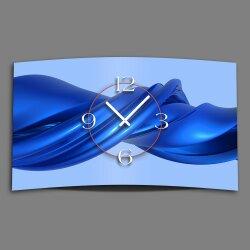 Digital Designer Art abstrakt blau Designer Wanduhr...