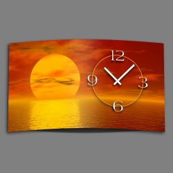 Digital Designer Art Sunset Designer Wanduhr modernes Wanduhren Design leise kein ticken DIXTIME 3D-0373