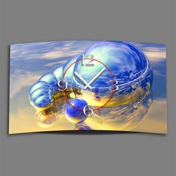 Digital Designer Art Kugeln blau Designer Wanduhr modernes Wanduhren Design leise kein ticken DIXTIME 3D-0370
