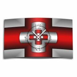 Digital Designer Art Kreuz rot Designer Wanduhr modernes...