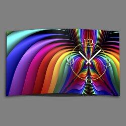 Digital Designer Art psychodelisch Designer Wanduhr modernes Wanduhren Design leise kein ticken DIXTIME 3D-0366