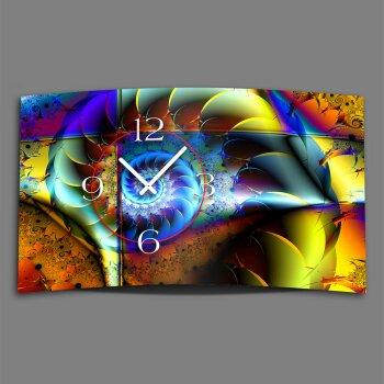 Digital Designer Art psychodelisch Schneckenhaus Designer Wanduhr modernes Wanduhren Design leise kein ticken DIXTIME 3D-0365