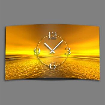 Digital Designer Art Sunset Designer Wanduhr modernes Wanduhren Design leise kein ticken DIXTIME 3D-0361