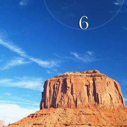 Wanduhr XXL 3D Optik Dixtime Weite Steppe Berg 50x70 cm leises Uhrwerk GR-039