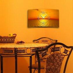 Digital Designer Art Sunset Designer Wanduhr modernes Wanduhren Design leise kein ticken DIXTIME 3D-0360