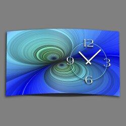 Digital Designer Art psycodelic blau Designer Wanduhr...
